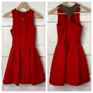 Opening Ceremony Fit & Flare Front Zip Dress